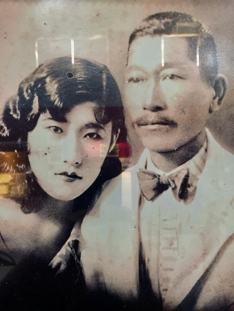 a couple descended from the first immigrants